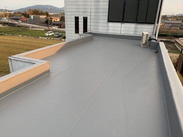 屋上シート防水張り替え